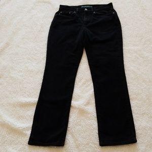 Lauren black corduroy jeans
